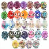 2.5''New printed shabby flower trim wholesael- chic printed shabby rose trim from JUTU lace