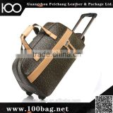 travel bag leather trolley travel bag leaves king travel bag foldable case