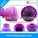 Foldable Silicone bulk hair accessories promotion Portable Silicone Folding Diffuser
