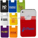 New design creative popular custom logo silicone phone card holder card set mobile phone sucker stand