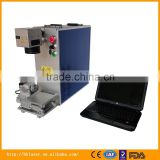 Huahai laser jewelry fiber laser marking machine with 360 degrees rotary tools