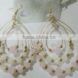 2013 Fashion Popolar In Summer Rainbow Crystal Beads Colors And Wholesale Costume Three Circles Hoop Earrings