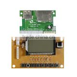 Customizable usd/sd/fm/aux mp3 module bluetooth with lcd