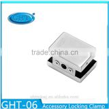 Glass Shower Door Hinge Panel Accessory Locking Clamp