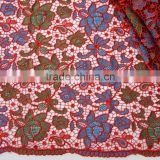Embroidered wedding dress lace embroidery lace fabric retail sale africa lace material
