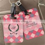 Custom logo printed standard size pvc luggage tag (PT-275)                                                                         Quality Choice