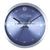 10 inch metal decorative wall mounted clock, aluminium round clock