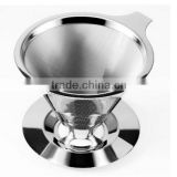 Pour over filter clever drippers 304 stainless steel metal coffee dripper