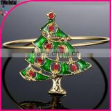 Christmas tree design fashionable beautiful style Christmas bangle