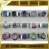 FREE wholesale 12pcs Drop Oil watch ring,new design ladies finger ring watch,best sale ring watches