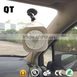 Summer Promotion Gift 12V Protable 4'' Mini Fan For Car Interior Cooling With Clip Use
