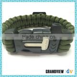 High quality durable using various custom paracord survival bracelet