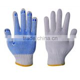 China Famous brand 7G PVC dotted cotton gloves