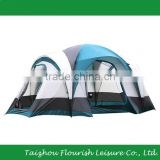 7-Person Water Resistant Family Tent with Large D-Style Door for Camping with Carry Bag