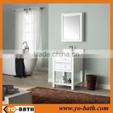 24 inch wooden white elegant bathroom vanity, modular bathroom vanity with marble countertop