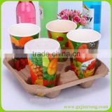cardboard drink tray drink serving tray/coffee cup carrier
