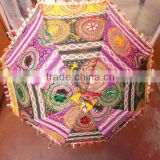 RTUM-2 Beautiful Craft work Jaipuri umbrella for sun protection Handcrafted Embroidery Design Special Gift umbrella From Jaipur