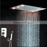 multi color remote control 2 way conceal shower set hot/cold brass valve wall mounted electric led shower,bath shower,