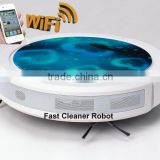 Newest WIFI smartphone App control wet and dry mopping robot vacuum cleaner china / water cleaner machine