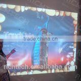 Unlimited effects projection system, interactive wall systems for advertising, exhibition, entertainment
