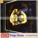 Nature rose black onyx stone slab
