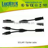 TUV approval photovoltaic Splleter and Y shape Solar cable