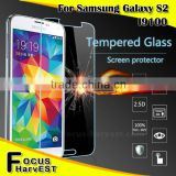 Hot sell 9H 0.33/0.4mm 2.5D Tempered Glass Screen Protector For samsung I9100 S2 wholesale For Phone accessories welcome OEM/ODM