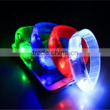 Voice control Sound Activated Sensor LED Flashing Flash Glowing Bracelet Bracelets bangle Wrist Strap