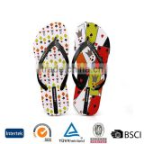 2016 the latest trend design printed white comfortable women spa flip flop slippers beach