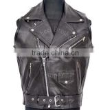 leather shooting vest kids leather vest buffalo leather vest Waistcoat german biker men leather biker vest