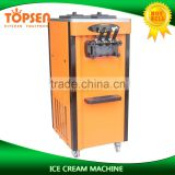 Orange Color Pre-cooling Freezer Ice Cream Van For Sale
