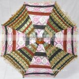 Traditional Sari material Handmade indian parasols,tribal indian bohemian Colorfull embroidered umbrella