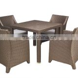 Aluminium high coffee bar or Restaurant PE Rattan chair MB2941 and MB2925 luxury dining table set
