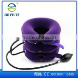 Soft Inflatable Neck Collar Neck Pain Relief Cervical Traction Device with full flannel covers
