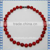 Very Fashion Red Color Sea Shell Pearl Necklace SSN004