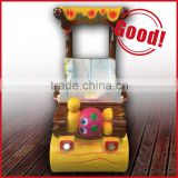 Fiberglass swing car, cartoon animal kiddie rides, swing machine on toys