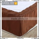 hottest polyester solid ruffled fitted hotel bed skirt