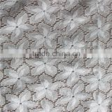 highest grade net elastic nylon french george lace fabric for women wear/halloween costumes