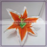 artificial easter lily silk flower heads for clothes(AM-F-59)