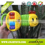 JH668 New Cheapest Baby Plastic Musical Toys Lovely Caterpillar Appearance Electronic Organ For Sale