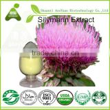 100% Natural Hepatic Protector Milk Thistle Extract Silymarin Silybin UV20%-95% CAS 65666-07-1
