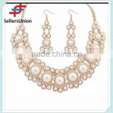 No.1 yiwu exporting commission agent wanted good quality beaded diamond necklace set bridal jewelry set