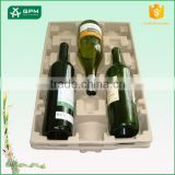 Factory Price Red Wine Bottle Protective Packaging For Quakeproof Paper Pulp Wine Bottle Holders