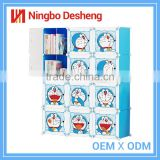 Fashion Doraemon kids plastic bookshelf