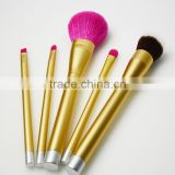 Rose gold handle Free sample cosmetics makeup goat hair makeup brush