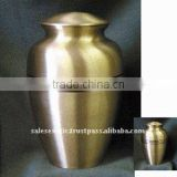 Brushed Brass Cremation urns