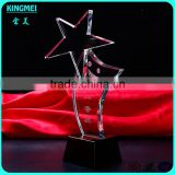 Clear star smiling face crystal plaque award star crystal glass award trophies