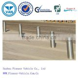 hydraulic automatic electric rising stainless steel bollards with LED light and hydraulic system