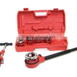 Pipe Threader Ratchet Handle with 5 Stock Dies and Pipe cutter #2 Plumbing