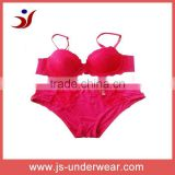 hot sexy women red underwear set lady lace bra and panty